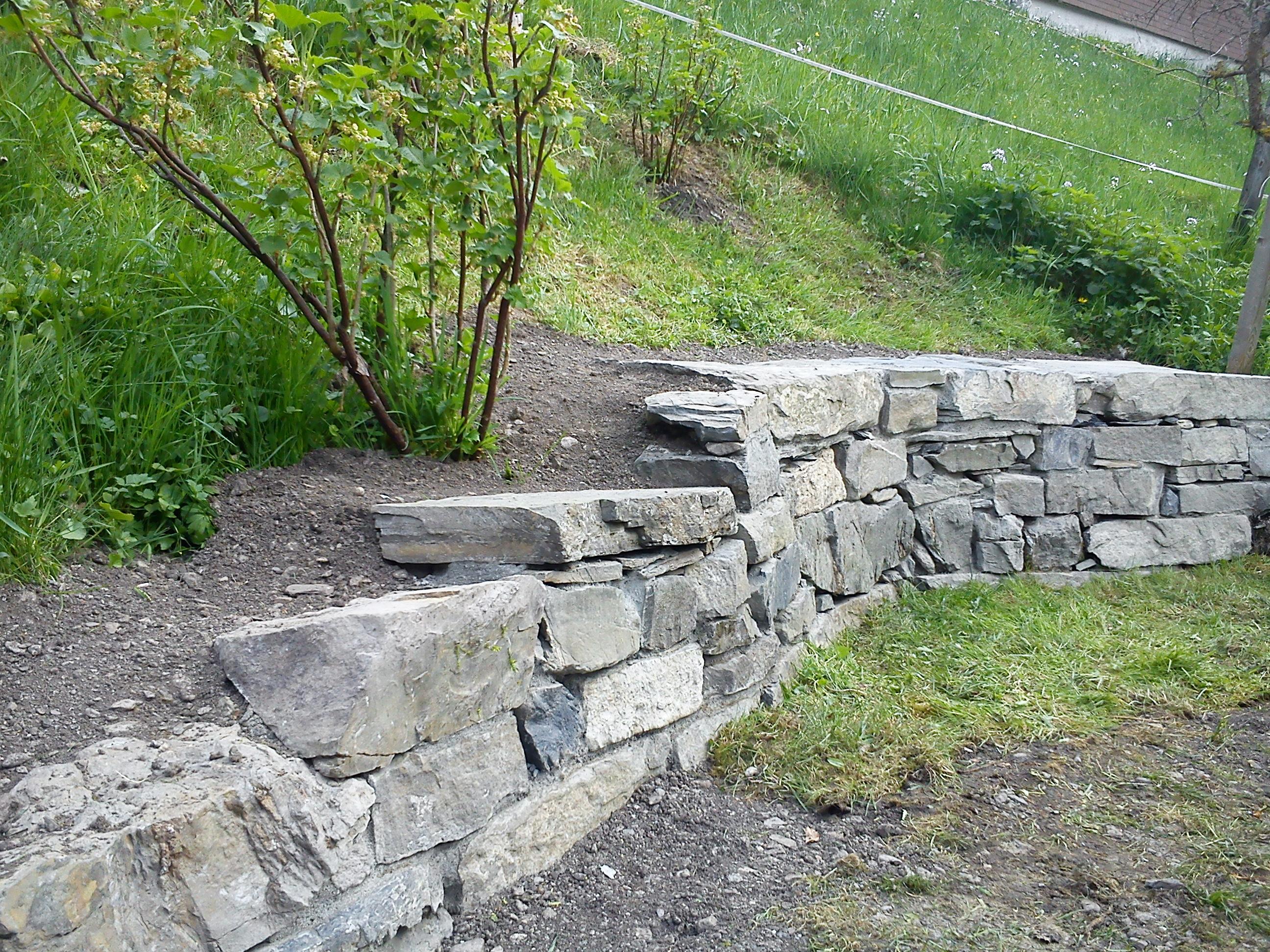 Sanierung Gartenmauer Matt